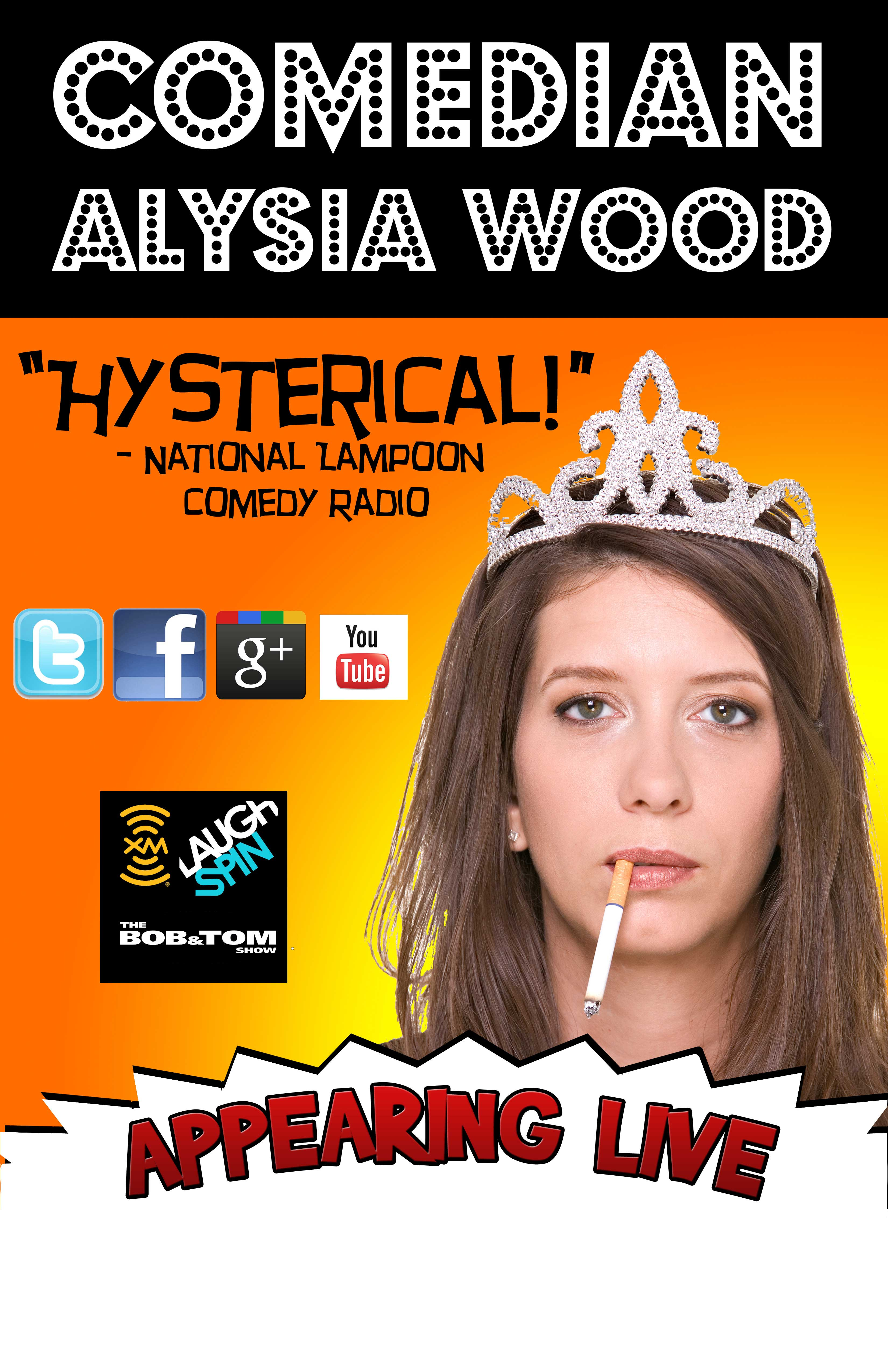 Alysia Wood Tour Poster with Cigarette