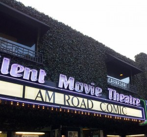 silent theater marquee